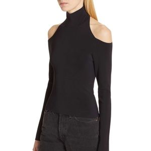 Alexander Wang cold shoulder halter knit top NWT